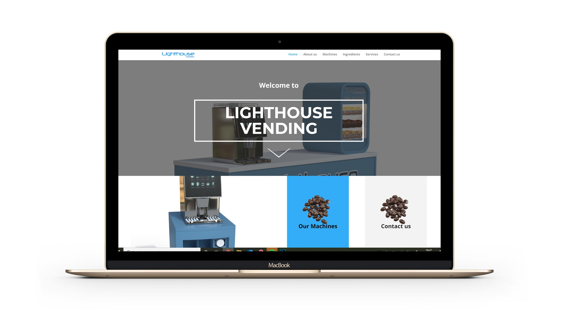 Lighthouse Vending Wordpress Website