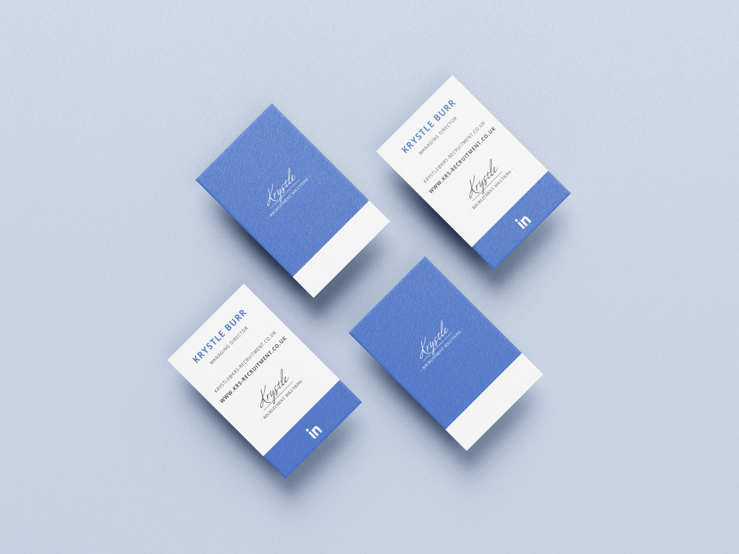 Krystle Recruitment Business Card Mock Up