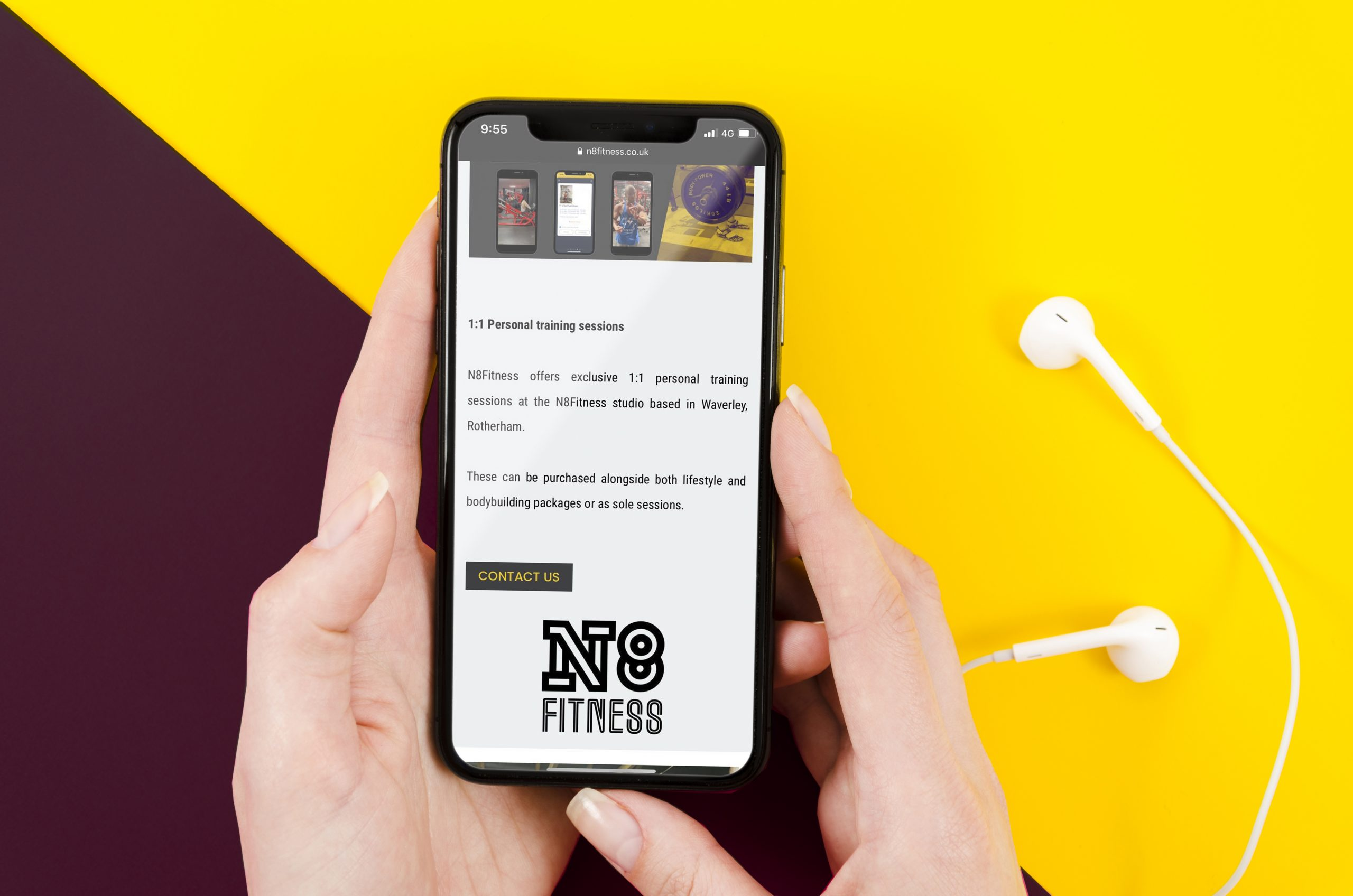 N8 Fitness project, website design, marketing and branding