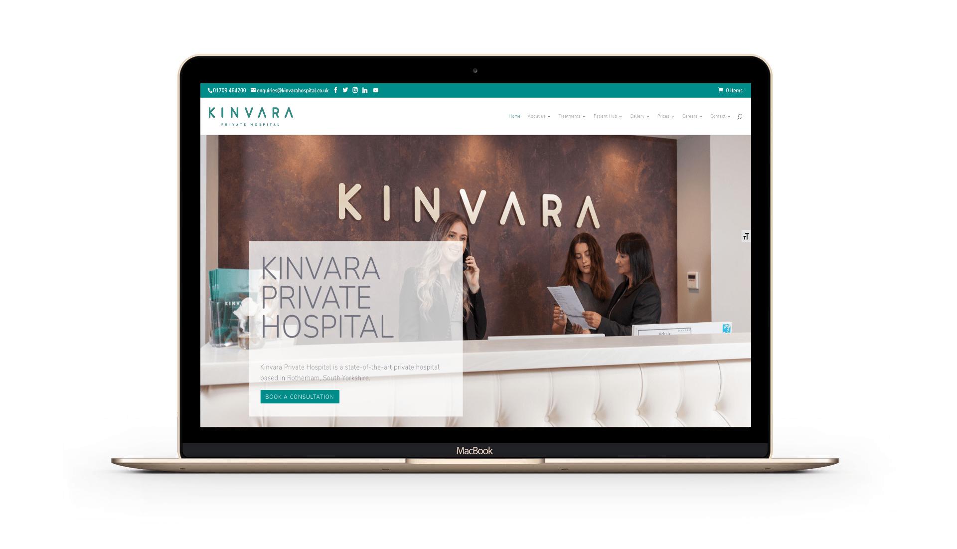 Kinvara Private Hospital Website Design